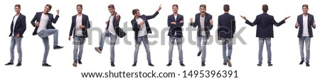 collage of various photos of a successful modern man Royalty-Free Stock Photo #1495396391