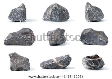 Group of Stones collection with soft shadow  on white background. #1495412036