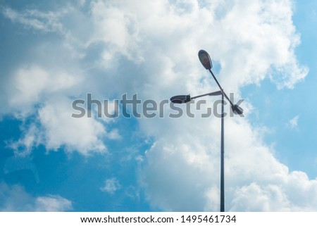 Street lamp with clear blue sky #1495461734