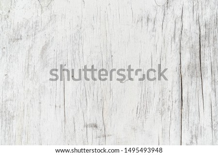 Wooden texture background. Old wood texture with white peeling paint. Different vertical lines. Background for text or design Royalty-Free Stock Photo #1495493948