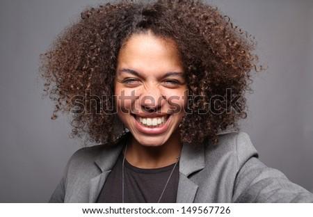 Beautiful curly woman #149567726