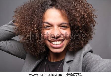 Beautiful curly woman #149567753
