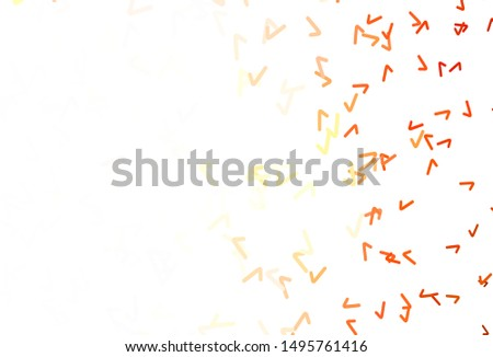 Light Red, Yellow vector template with lines. A circumflex abstract illustration with gradient. A completely new design for your business. #1495761416