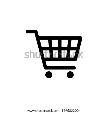 Shopping cart icon vector black. Shopping cart icon. Shopping cart. Business icon. #1495822004