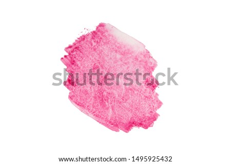Abstract vibrant pink watercolor painting background, brushstroke isolated on white #1495925432