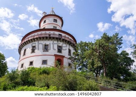 Hunting chateau Humprecht surrounded by a wood park near Sobotka, Czech republic, sunny summer day #1496042807