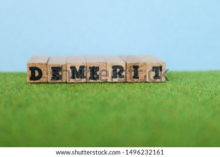 word letter blocks on green grass with sky                                #1496232161