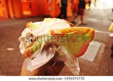 Ice Cream Sandwich is a popular street snack in singapore  #1496475770