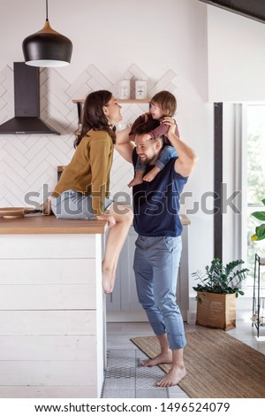 family morning in the kitchen #1496524079