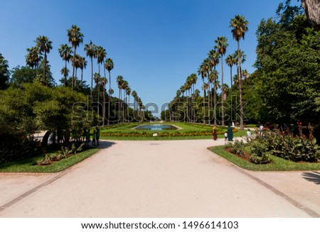 Algeria, Algiers - August 18 2019 : The Botanical Garden Hamma of algiers #1496614103