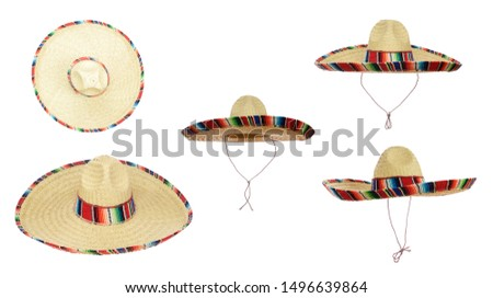 Mexican Sombreros isolated on a white background. #1496639864