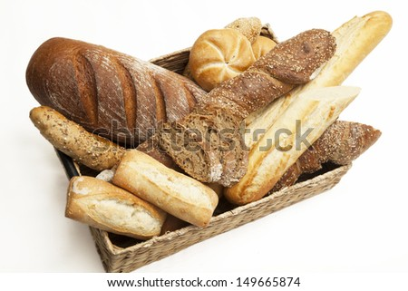 Fresh, crusty bread and bakery