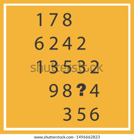 Counting games for kids and adults. Educational math game. Result. Crossword for social networks. Rebus. Riddle for the mind. Riddle with numbers. Vector #1496662823