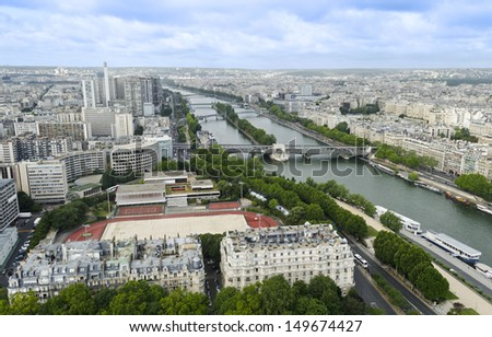 View of the Seine from the Eiffel Tower - Paris, France #149674427