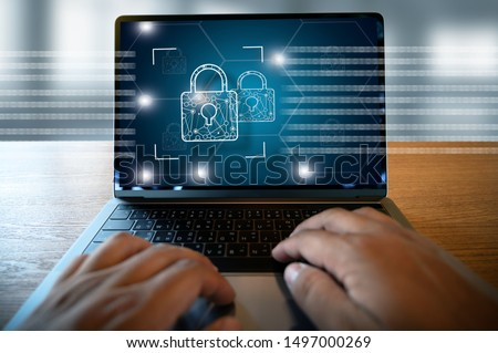 CYBER SECURITY Business technology secure Firewall Antivirus Alert Protection Security and Cyber Security Firewall #1497000269