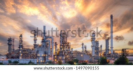 Close up industrial view,A equipment of oil refining,Oil and gas refinery area,Pipelines plant and Oil tank zone #1497090155