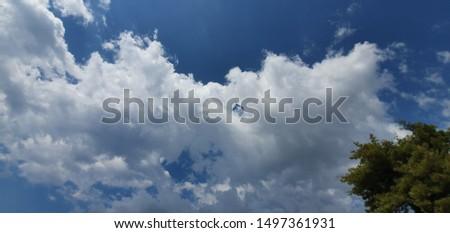 Beautiful cloudy sky blue white #1497361931