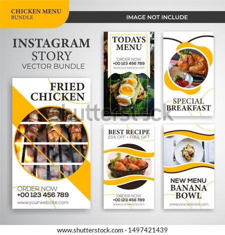 Instagram social media stories templates