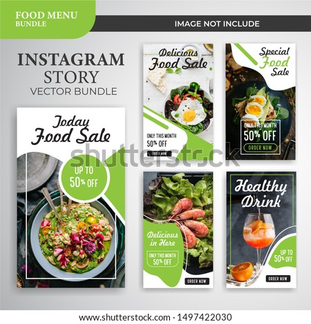 Instagram social media stories templates Royalty-Free Stock Photo #1497422030