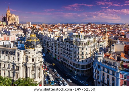 Gran Via Street, Madrid, Spain #149752550