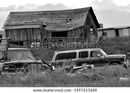 Buffalo WY, USA on August 10, 2019 : A ghost town. #1497613688