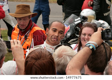 Goodwood UK - July 08: Lewis Hamilton (Formula 1 driver) at Goodwood Festival of Speed, July 8, 2008. #14977675