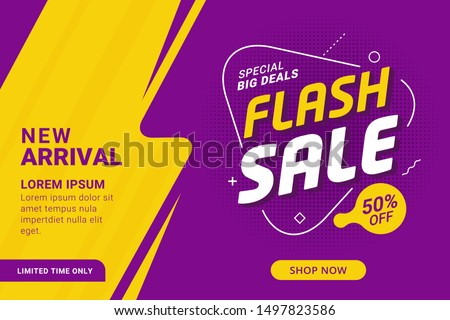 Flash sale discount banner template promotion #1497823586