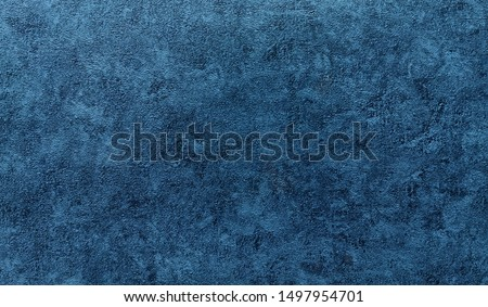 Background - grain texture blue paint wall. Beautiful abstract grunge decorative navy blue dark wallpaper. #1497954701