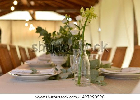 elegant table setting for the event #1497990590