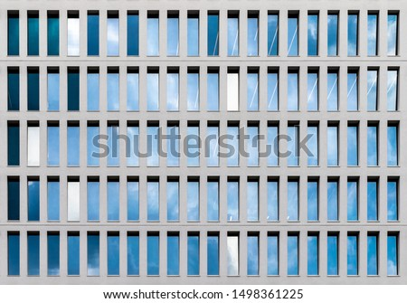 Facade Detail, repetitive texture in facade. From a Building in Milan 2019 #1498361225