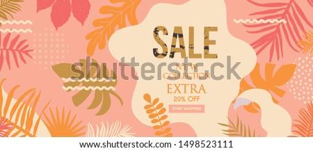 Sale website banner. Sale tag. Sale promotional material vector illustration. Design for ad, social media banner, brochure, email, flyer, leaflet, newsletter, placard, poster, web sticker  #1498523111