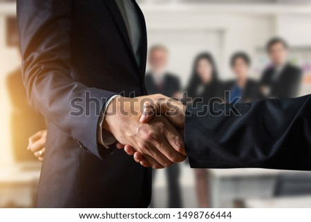 Success business, successful agreement negotiation and confident  partner cooperation concept, Businessman shake hands with customer #1498766444