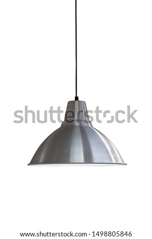 decorative lamp hanging from the ceiling.modern lamp isolated on white background #1498805846