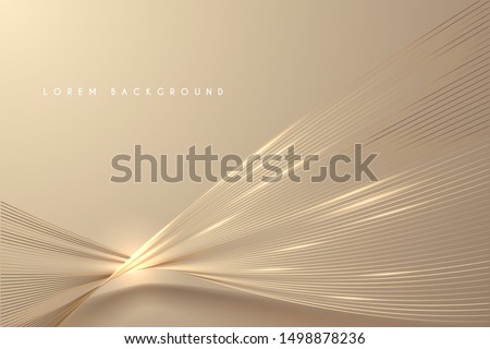 Abstract gold light threads background Royalty-Free Stock Photo #1498878236