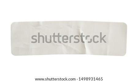 Paper sticker label isolated on white background #1498931465