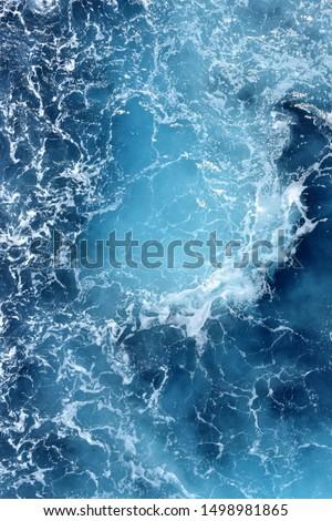 atlantic ocean blue blue water Royalty-Free Stock Photo #1498981865