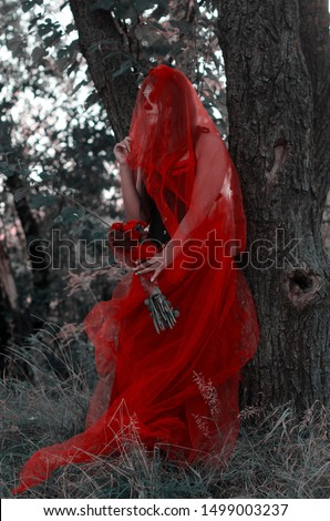 The bride in red! Santa Muerte Halloween sequel #1499003237