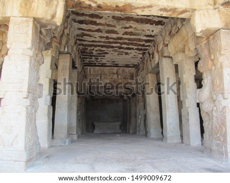 Stone roof , stone floor, stone pillar ,stone temple is constructed in excellent way. #1499009672