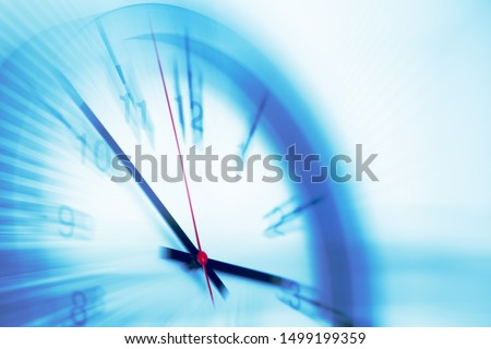 Fast speed times clock business working hours moving concept #1499199359
