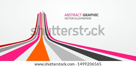 Sense of perspective arrows, growth meaning. Royalty-Free Stock Photo #1499206565
