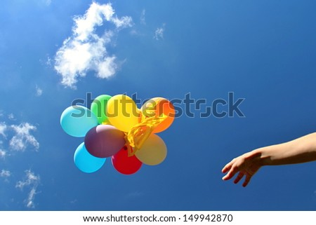 Colorful Balloons in the Blue Sky #149942870