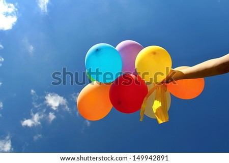 Colorful Balloons in the Blue Sky #149942891