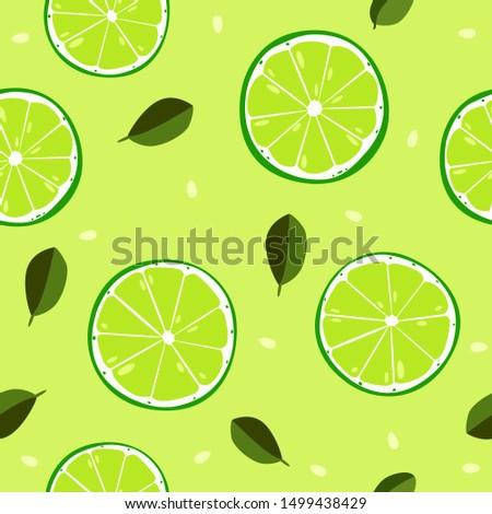Design Pattern Seamless Tropical Fruits  #1499438429