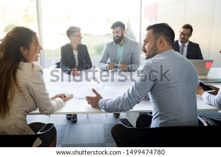 Business people conference in modern meeting room #1499474780