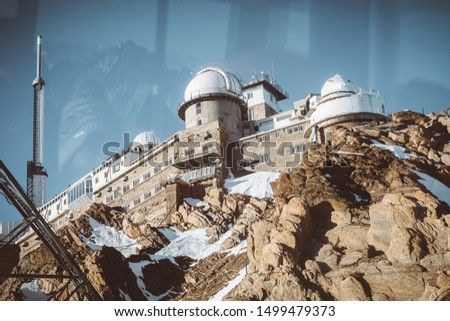 Observatory of Pic du Midi in French Pyrenees