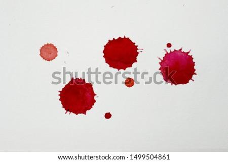 Blood splatters. Realistic bloody splatters for Halloween concept. #1499504861