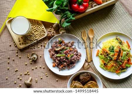 Vegetarian food, vegetarian festival is a colourfull event. Background. #1499518445