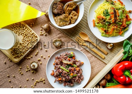 Vegetarian food, vegetarian festival is a colourfull event. Background. #1499521178