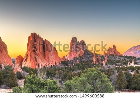 Garden of the Gods, Colorado Springs, Colorado, USA. #1499600588