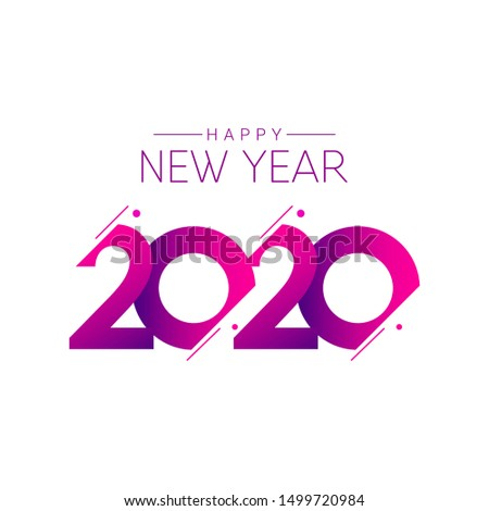 happy new year 2020 vector template. Design for banner; greeting cards or print. #1499720984
